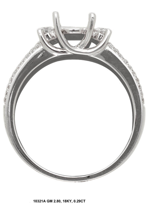 10321A-1 - 14K White Ring - Pawn212