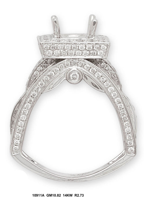10911A - 14K White Gold Engagement Ring - Pawn212