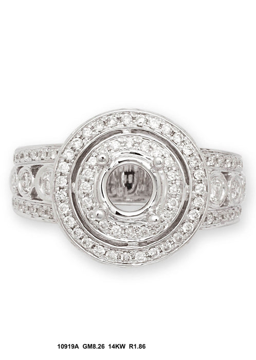 10919A-2 - 14K White Ring - Pawn212
