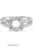 11150-1 - 14K White Gold Engagement Ring - Pawn212