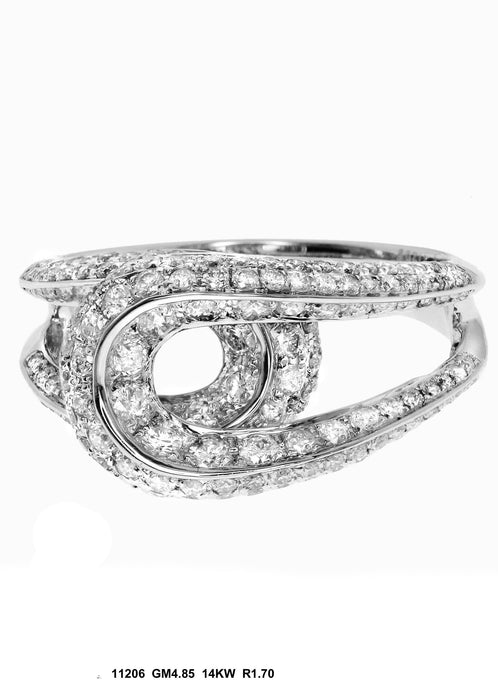 11206 - 14K White Gold Cocktail Ring - Pawn212