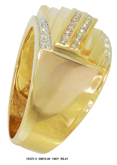 1533Y-3 - 14K Yellow Men's Ring - Pawn212