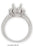 17012A-2 - 14K White Gold Engagemenet Ring - Pawn212