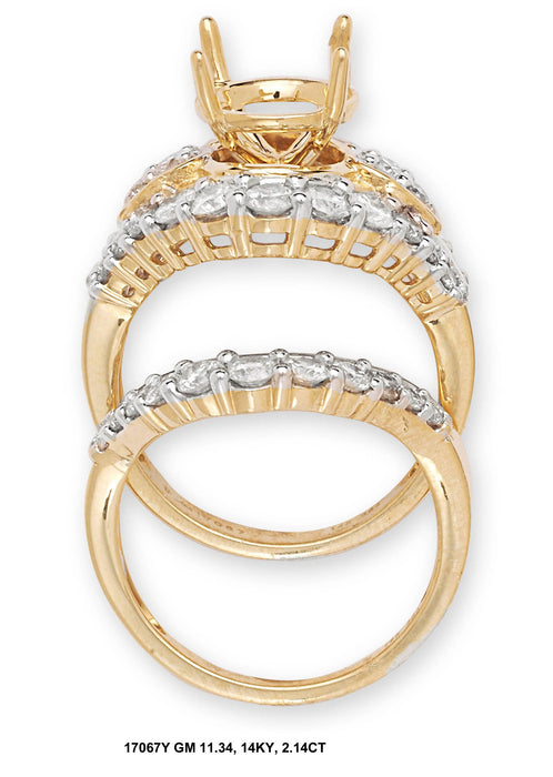 17067Y - 14K Yellow Ring Set - Pawn212