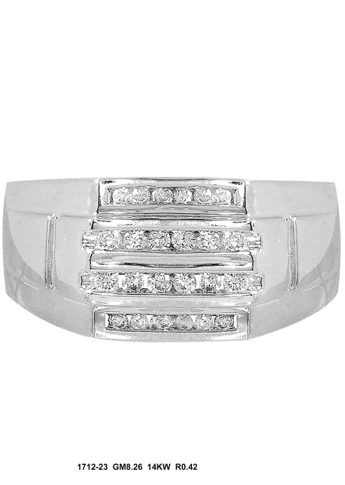 1712-23 - 14K White Men's Ring - Pawn212