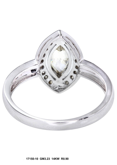 17150-10 - 14K White Ring - Pawn212