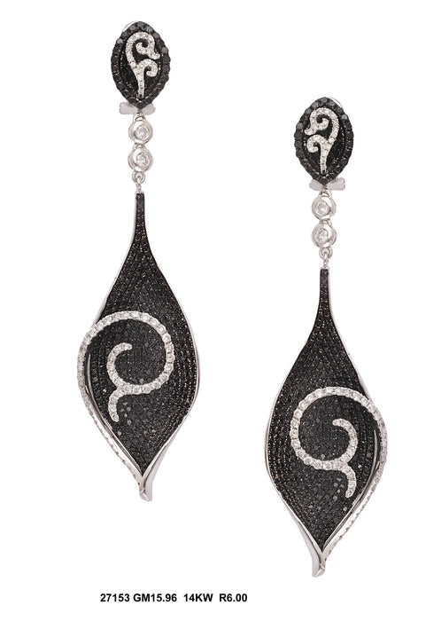 27153 - 14K White Gold Drop Earrings - Pawn212