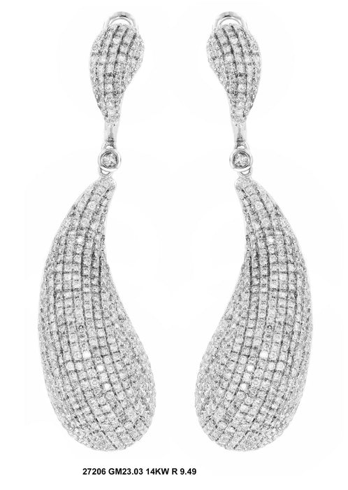 27206 - 14K White Gold Drop Earrings - Pawn212