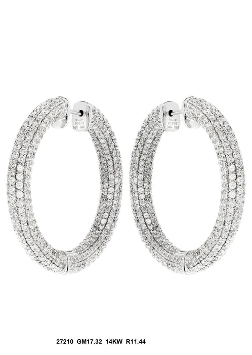 27210 - 14K White Gold Earring - Pawn212