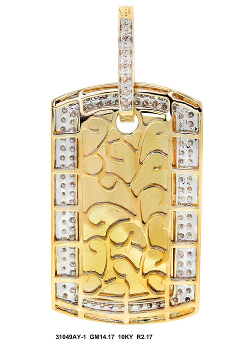 31049AY-1 - 10K Yellow Pendant Dog Tag - Pawn212