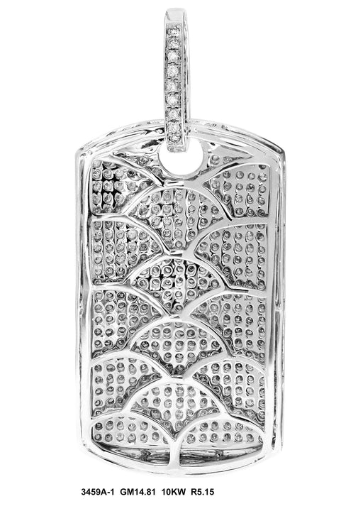 3459A-1 - 10K White Pendant Dog Tag - Pawn212