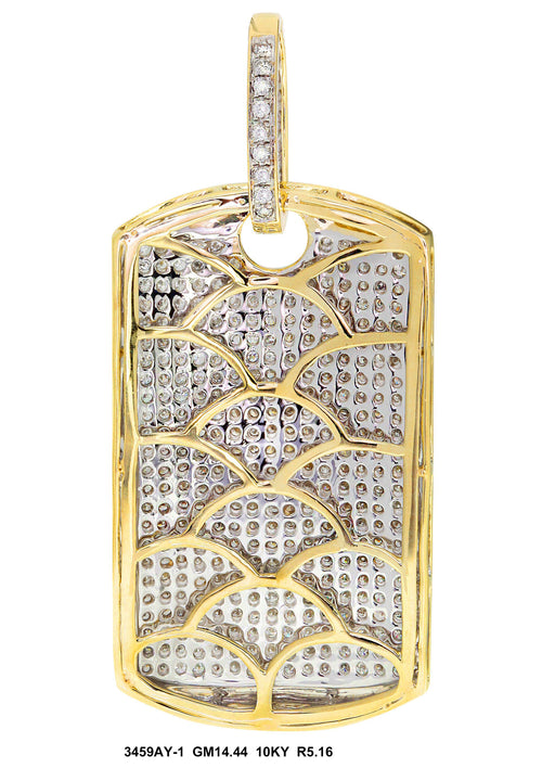 3459AY-1 - 10K Yellow Pendant Dog Tag - Pawn212