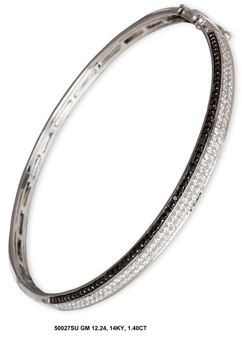 50027SU-4 - 14K White Ladies Bangle
