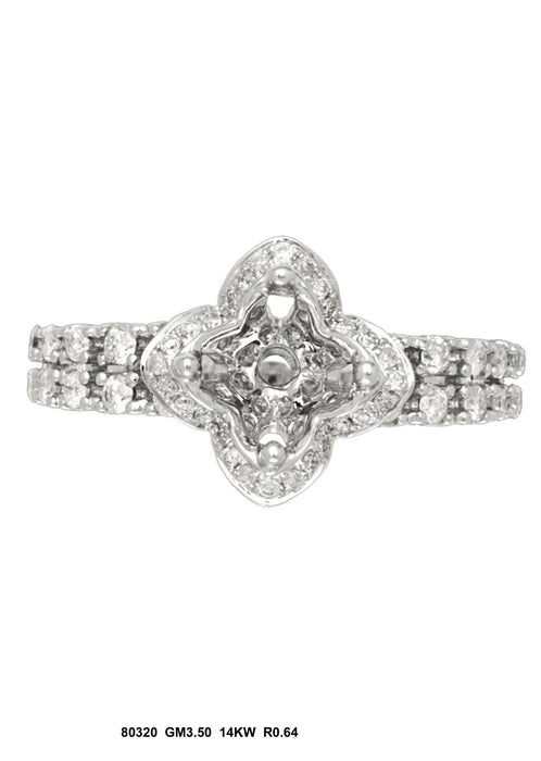 80320-3 - 14K White Gold Engagement Ring - Pawn212
