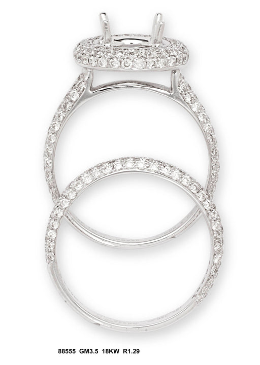 88555-7 - 18K White Ring Set