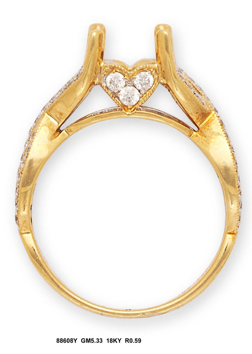 88608Y-3 - 18K Yellow Semi Mount Ring - Pawn212