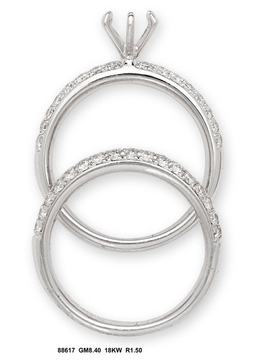 88617-6 - 18K White Ring Set