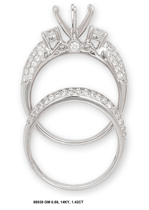 88938-7 - 18K White Ring Set