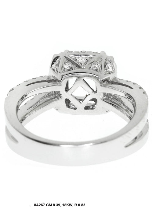 8A267-3 - 14K White Gold Engagement Ring - Pawn212