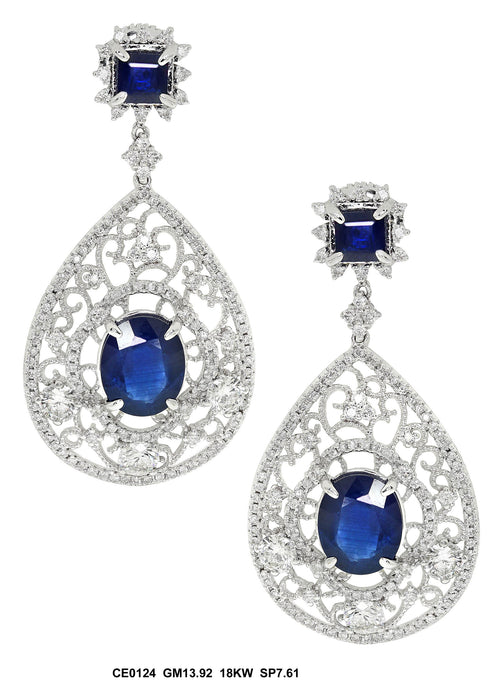 CE0124 - 18K White Earring - Pawn212