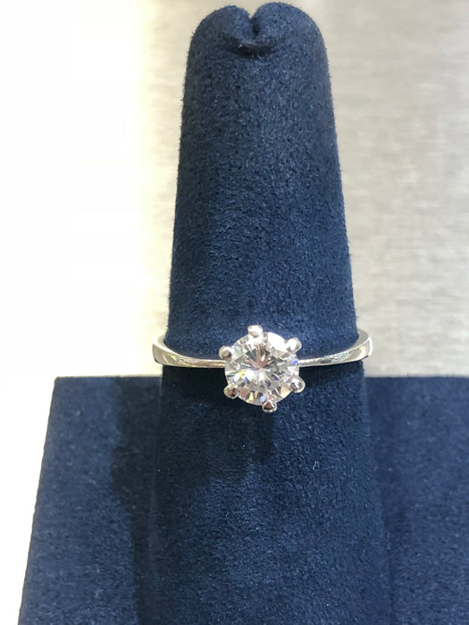 Women's Engagement Ring - 14k White Gold - 0.70 CT VS Natural Pointer Diamond - Pawn212