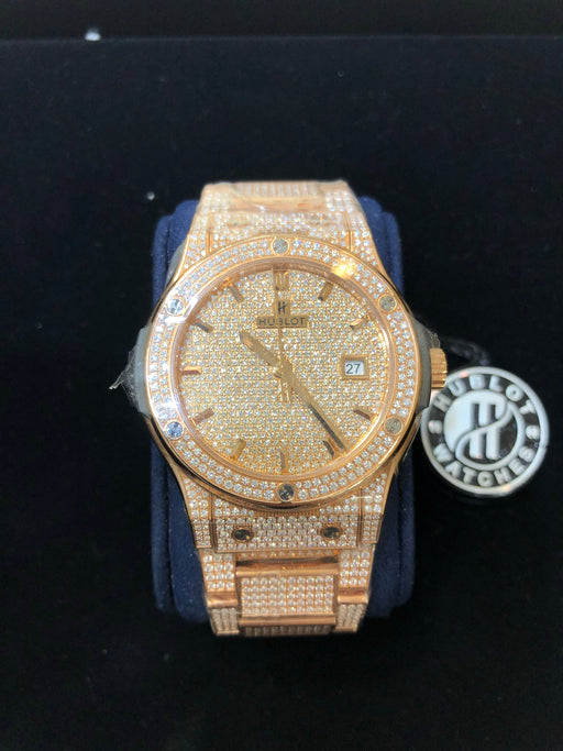 "Hublot ""Bust Down"" VVS Diamonds, 1/10 in World, Factory Original Watch - Pawn212"