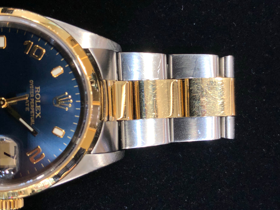 Rolex Date Oyster Perpetual, Two-Tone Steel/Gold Band, 36MM, Model R15223 - Pawn212
