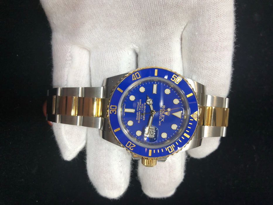 Rolex Submariner Oyster Perpetual Date, Blue Dial, Two-Tone Band, 40MM, Model 116613 - Pawn212