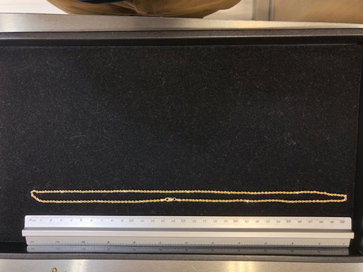 Rope Chain, Brand New, 10k Yellow Gold, Hollow Chain, 24 Inches, 3.3 Grams Weight - Pawn212