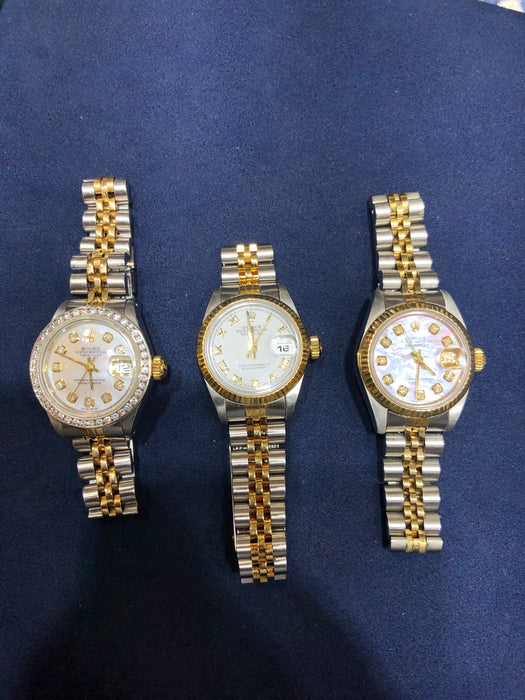 Women's Rolex Datejust 26MM, Jubilee Band, White Diamond Dial, Custom Diamond Bezel, No Box & No Papers - Pawn212