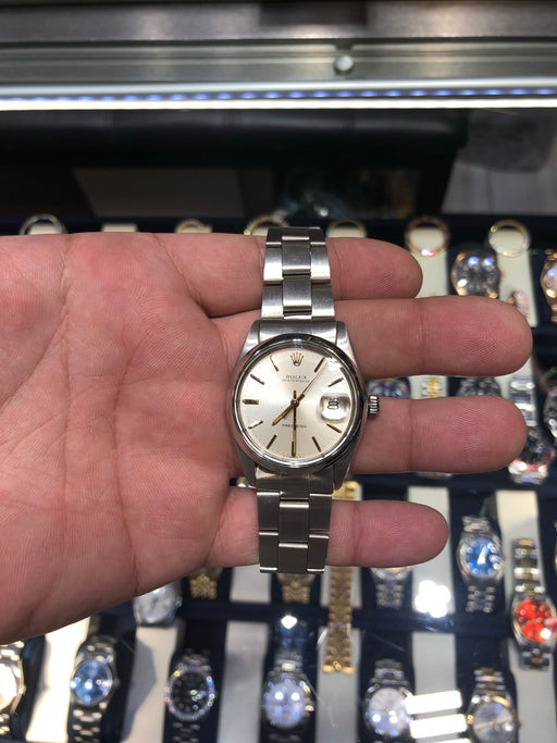 Vintage Rolex Oysterdate 6694 Precision 34mm Silver Dial Stainless Steel c.1984 . Condition is Pre-owned.  Mint mint condition - like new.  No box. No papers.