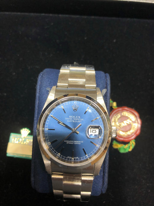 Rolex Datejust Oyster Perpetual, Blue Dial, 36MM, Model 116200 - Pawn212