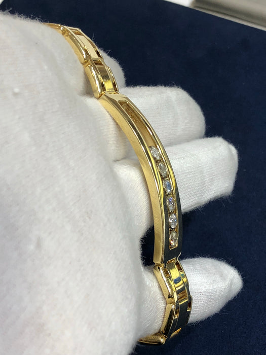 Masterpiece link bracelet - 2 CT VS1 Diamonds and 14k Solid Yellow Gold - Pawn212