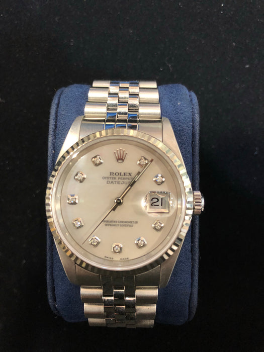 Rolex Datejust Oyster Perpetual, 36MM, Aftermarket Dial, 0.20CT VS Diamonds, Model 116300 - Pawn212