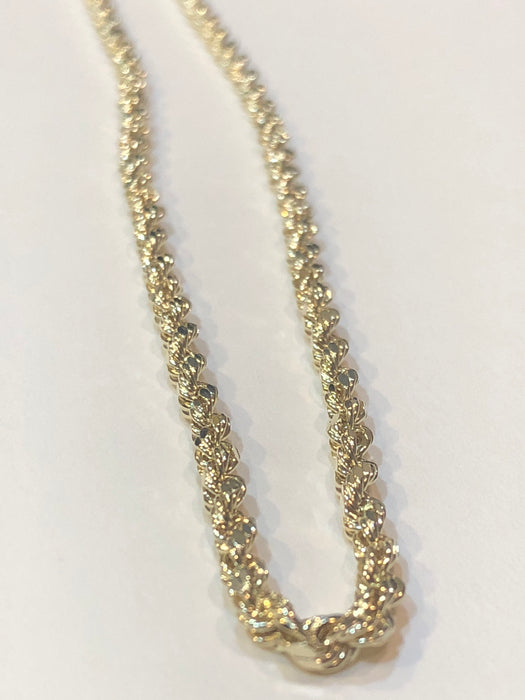 Rope Chain, 5.5 grams, 10k Yellow Gold, 22 inches - Pawn212