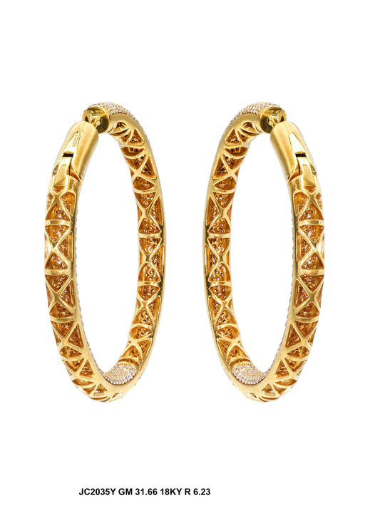 JC2035Y - 18K Yellow Fancy Earrings - Pawn212