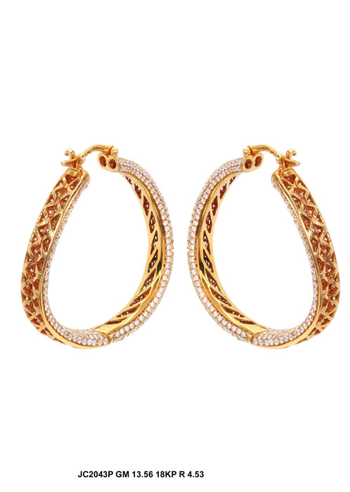 JC2043P - 18KP Earrings - Pawn212