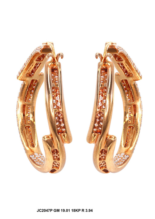 JC2047P - 18KP Fancy Earrings - Pawn212