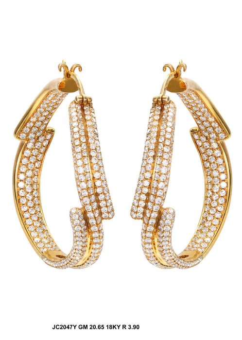 JC2047Y - 18K Yellow Fancy Earrings - Pawn212