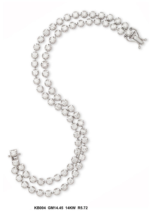KB004-1 - 14K White Gold Bracelet - Pawn212