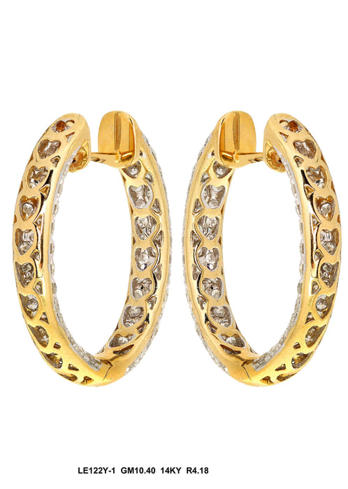 LE122Y-2 - 18K Yellow Earring - Pawn212