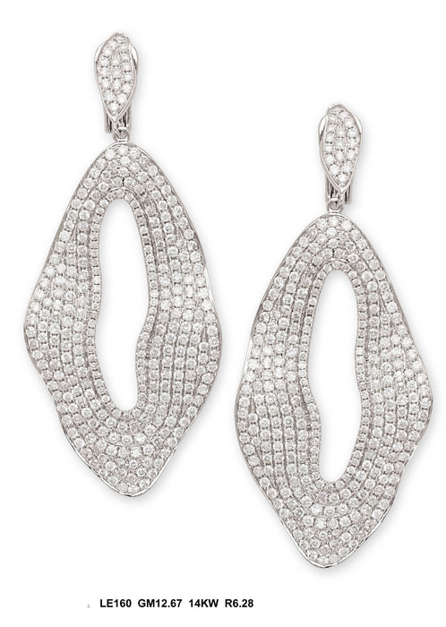 LE160-1 - 14K White Earring - Pawn212