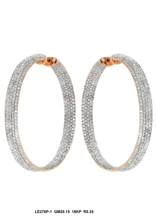 LE276P-1 - 18K Rose Gold Earring - Pawn212