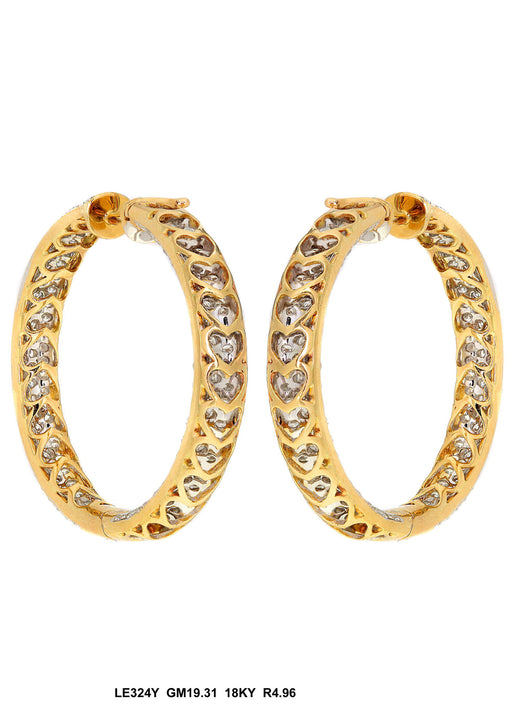 LE324Y - 18K Yellow Gold Earring - Pawn212
