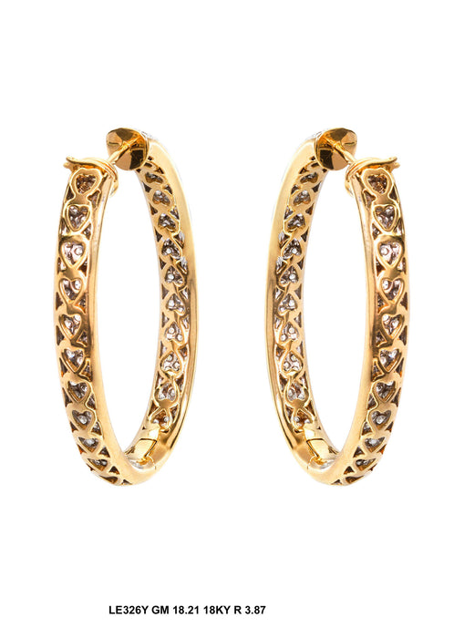 LE326Y - 18K Yellow Earring - Pawn212