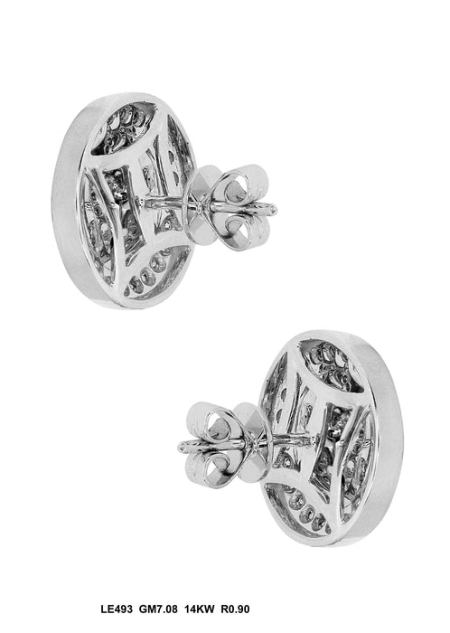 LE493 - 14K White Gold Stud Earrings - Pawn212