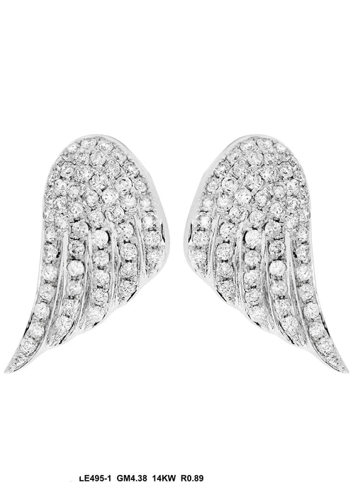 LE495-1 - 14K White Earring - Pawn212