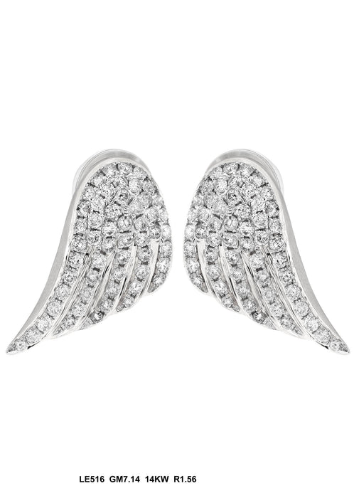 LE516-1 - 14K White Earring - Pawn212