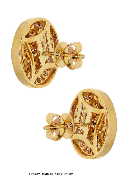 LE520Y - 14K Yellow Earring - Pawn212