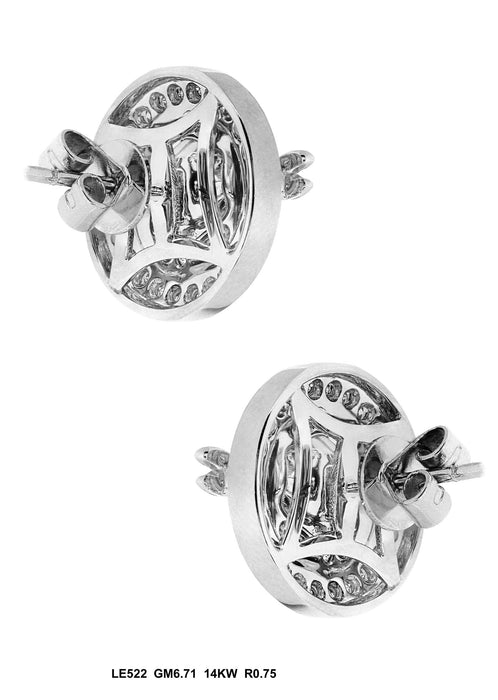 LE522 - 14K White Earring - Pawn212